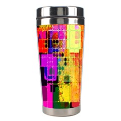 Abstract Squares Background Pattern Stainless Steel Travel Tumblers