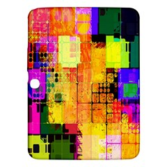 Abstract Squares Background Pattern Samsung Galaxy Tab 3 (10 1 ) P5200 Hardshell Case
