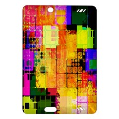 Abstract Squares Background Pattern Amazon Kindle Fire HD (2013) Hardshell Case