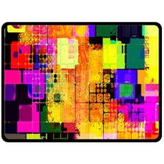 Abstract Squares Background Pattern Double Sided Fleece Blanket (Large)