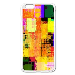 Abstract Squares Background Pattern Apple Iphone 6 Plus/6s Plus Enamel White Case