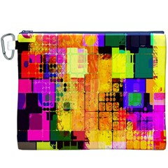 Abstract Squares Background Pattern Canvas Cosmetic Bag (XXXL)