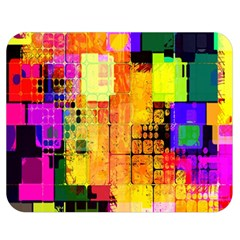 Abstract Squares Background Pattern Double Sided Flano Blanket (medium)