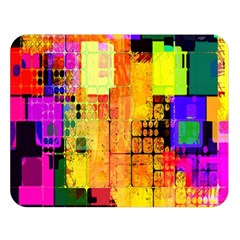 Abstract Squares Background Pattern Double Sided Flano Blanket (Large)