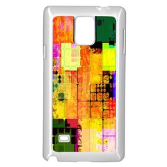 Abstract Squares Background Pattern Samsung Galaxy Note 4 Case (white)