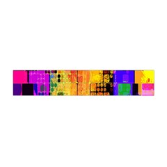 Abstract Squares Background Pattern Flano Scarf (mini)