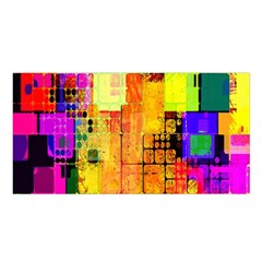 Abstract Squares Background Pattern Satin Shawl