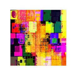 Abstract Squares Background Pattern Small Satin Scarf (Square)