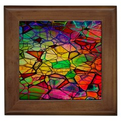 Abstract Squares Triangle Polygon Framed Tiles
