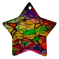 Abstract Squares Triangle Polygon Ornament (Star)