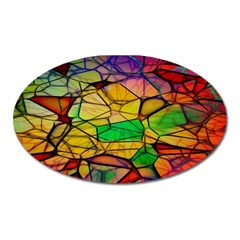 Abstract Squares Triangle Polygon Oval Magnet