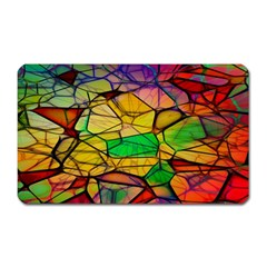 Abstract Squares Triangle Polygon Magnet (Rectangular)