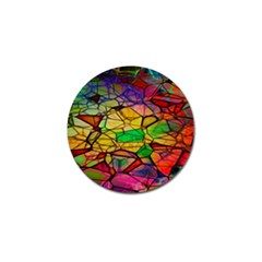 Abstract Squares Triangle Polygon Golf Ball Marker (4 pack)