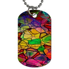 Abstract Squares Triangle Polygon Dog Tag (Two Sides)