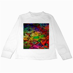 Abstract Squares Triangle Polygon Kids Long Sleeve T Shirts