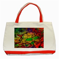 Abstract Squares Triangle Polygon Classic Tote Bag (Red)