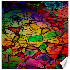 Abstract Squares Triangle Polygon Canvas 16  x 16