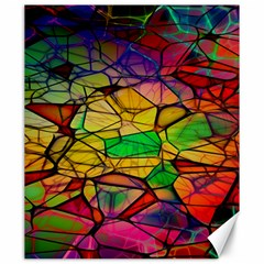 Abstract Squares Triangle Polygon Canvas 20  x 24