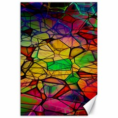 Abstract Squares Triangle Polygon Canvas 20  x 30