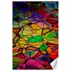Abstract Squares Triangle Polygon Canvas 24  x 36