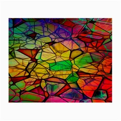 Abstract Squares Triangle Polygon Small Glasses Cloth (2-Side)
