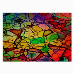 Abstract Squares Triangle Polygon Large Glasses Cloth (2-Side)