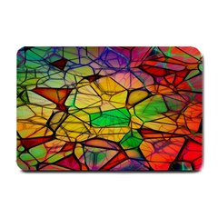 Abstract Squares Triangle Polygon Small Doormat