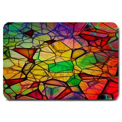 Abstract Squares Triangle Polygon Large Doormat