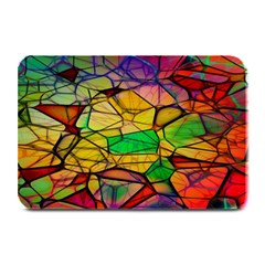 Abstract Squares Triangle Polygon Plate Mats