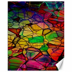 Abstract Squares Triangle Polygon Canvas 11  x 14
