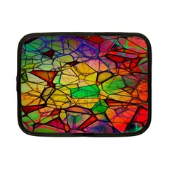 Abstract Squares Triangle Polygon Netbook Case (small)