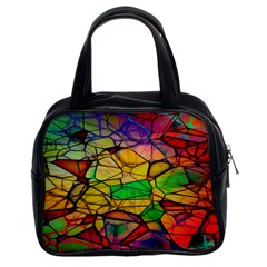 Abstract Squares Triangle Polygon Classic Handbags (2 Sides)
