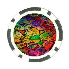 Abstract Squares Triangle Polygon Poker Chip Card Guard (10 pack)