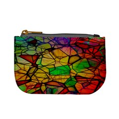 Abstract Squares Triangle Polygon Mini Coin Purses