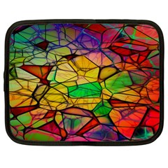 Abstract Squares Triangle Polygon Netbook Case (XL)