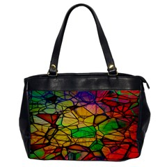 Abstract Squares Triangle Polygon Office Handbags