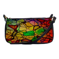 Abstract Squares Triangle Polygon Shoulder Clutch Bags