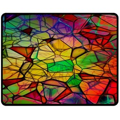 Abstract Squares Triangle Polygon Fleece Blanket (Medium)