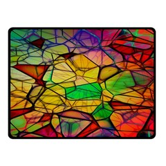 Abstract Squares Triangle Polygon Fleece Blanket (Small)