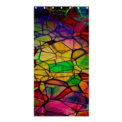 Abstract Squares Triangle Polygon Shower Curtain 36  x 72  (Stall)
