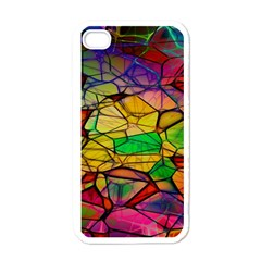 Abstract Squares Triangle Polygon Apple iPhone 4 Case (White)