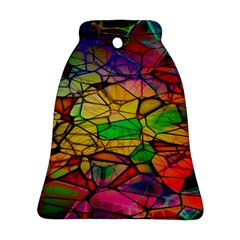 Abstract Squares Triangle Polygon Bell Ornament (Two Sides)