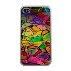Abstract Squares Triangle Polygon Apple Iphone 4 Case (clear)