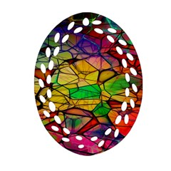 Abstract Squares Triangle Polygon Ornament (Oval Filigree)
