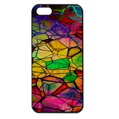 Abstract Squares Triangle Polygon Apple Iphone 5 Seamless Case (black)