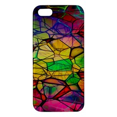 Abstract Squares Triangle Polygon Apple Iphone 5 Premium Hardshell Case