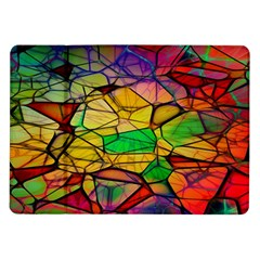 Abstract Squares Triangle Polygon Samsung Galaxy Tab 10.1  P7500 Flip Case