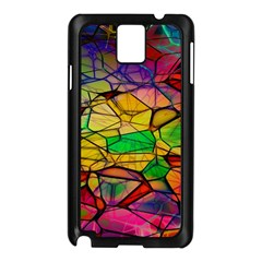 Abstract Squares Triangle Polygon Samsung Galaxy Note 3 N9005 Case (Black)