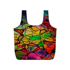 Abstract Squares Triangle Polygon Full Print Recycle Bags (S)