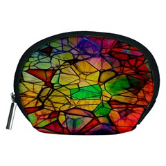 Abstract Squares Triangle Polygon Accessory Pouches (Medium)